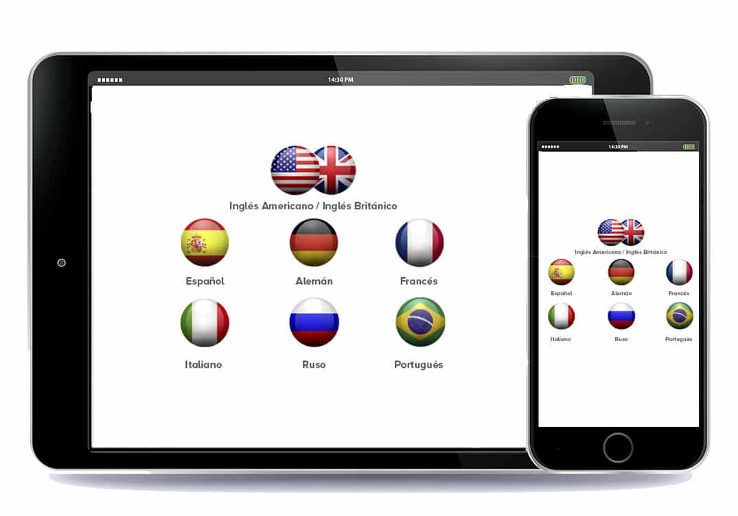 8 languages available