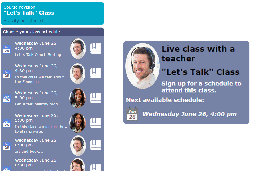 Let's Talk Classes